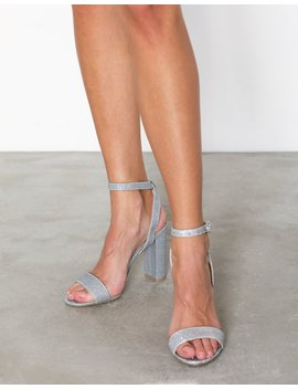 Glitter Block Heel Sandal by New Look