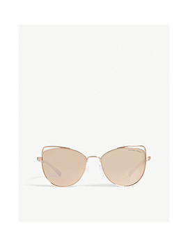 Michael Kors Rose Gold St. Lucia Cat's Eye Sunglasses Mk1035 by Michael Kors