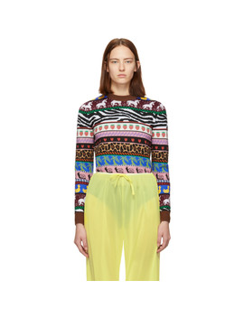 Multicolor Jacquard Patterns Sweater by Miu Miu