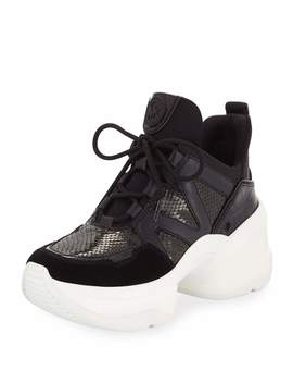 Olympia Embossed Hiker Trainers by Michael Michael Kors
