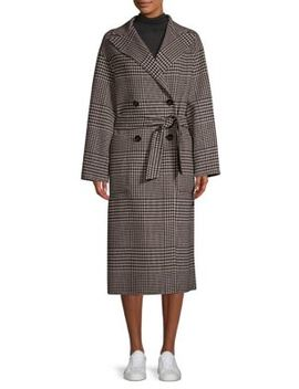 Faro Plaid Double Breasted Coat by Weekend Max Mara