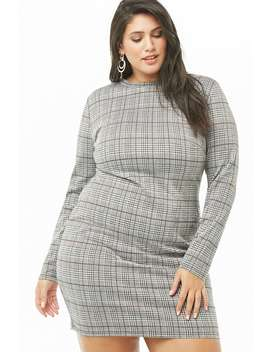 Plus Size Glen Plaid Mini Dress by Forever 21