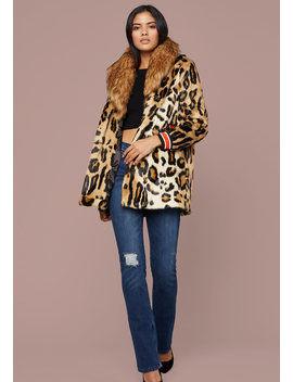 Big Collar Leopard Coat by Bebe