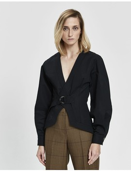 Cotton Linen Belted Jacket by Bassike