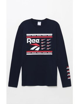 Reebok All Over Vector Long Sleeve T Shirt by Pacsun