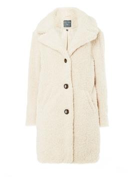 **Tall Beige Teddy Coat by Dorothy Perkins