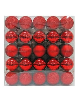 50ct Ornament Set 70mm Red   Wondershop™ by Shop Collections