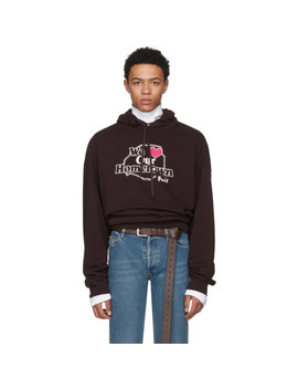 Pull à Capuche Mauve 'hometown' by Vetements