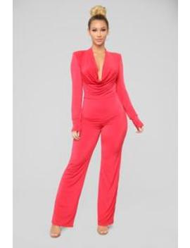 Let Me Show Off Jumpsuit   Red by Fashion Nova