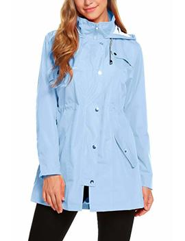 Zhenwei Womens Lightweight Hooded Waterproof Active Outdoor Rain Jacket S Xxl by Zhenwei