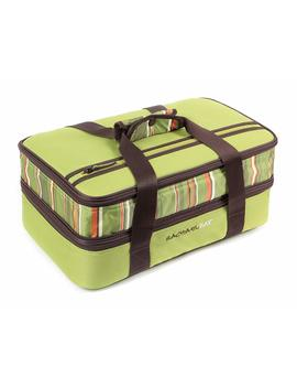 "Rachael Ray Expandable Lasagna Lugger, Double Casserole Carrier For Potluck Parties, Picnics, Tailgates   Fits Two 9""X13"" Casserole Dishes, Green by Rachael Ray"