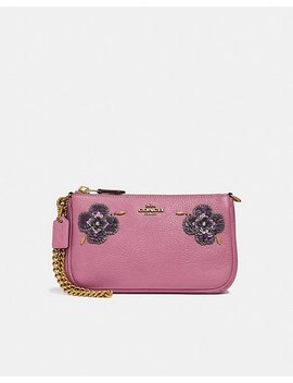 Nolita Wristlet 19 With Leather Sequin Applique by Coach