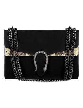Snake Bag Suede Black/Beige by Fashion Drug