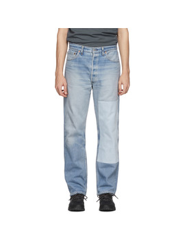 Indigo Reworked One Patch Jeans by B Sides