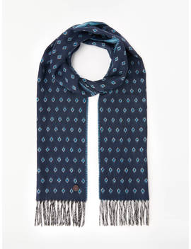 Ted Baker Diamond Pattern Scarf, Blue by Ted Baker