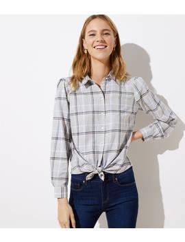 Plaid Button Down Shirt by Loft