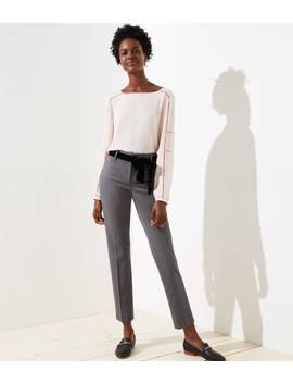 Petite Slim Velvet Tie Waist Pencil Pants In Marisa Fit by Loft
