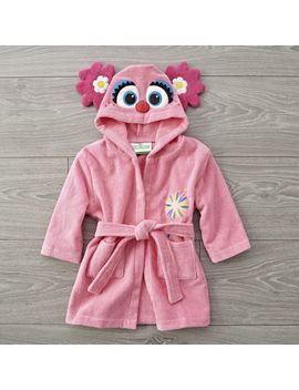 Sesame Street Fuzzy Abby Cadabby Baby Robe by Crate&Barrel