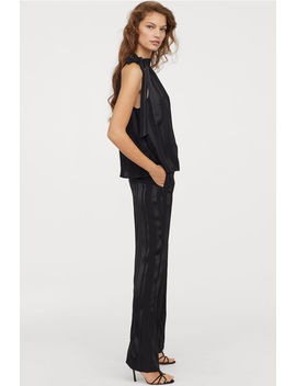 Jacquard Striped Trousers by H&M