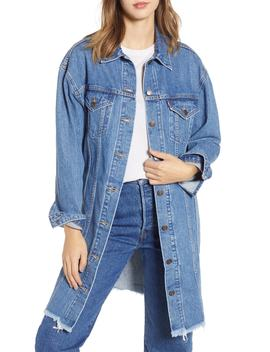 Extra Long Denim Trucker Jacket by Levi's®
