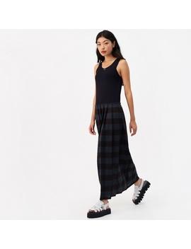 Two Part Maxi Dress   Black/Green by Mm6 Maison Margiela
