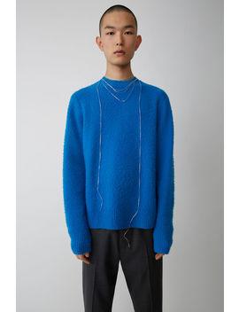 Pullover Mit Rundhalsausschnitt Blau by Acne Studios