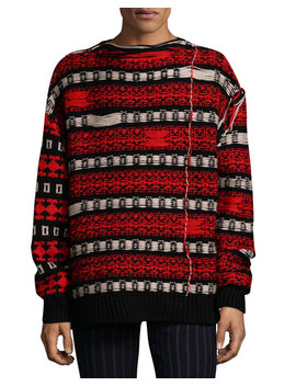 Men's Float Back Jacquard Sweater by Calvin Klein 205 W39 Nyc