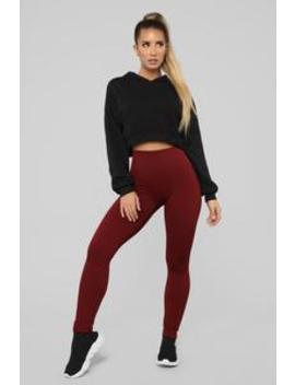 In The Near Future Seamless Leggings   Brick Red by Fashion Nova