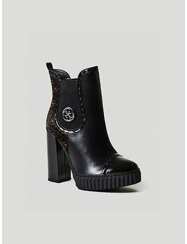 Gilorma Logo Ankle Boot by Guess