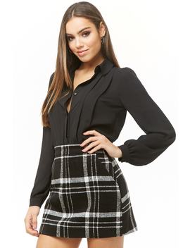 Pleated Chiffon Shirt by Forever 21