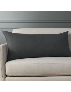 "36""X16"" Linon Dark Grey Pillow by Crate&Barrel"