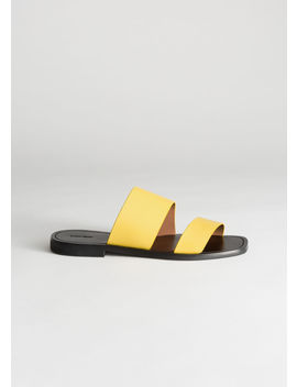 Duo Strap Leather Sandals by & Other Stories