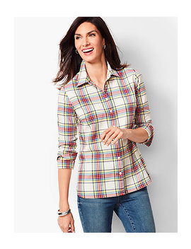 Classic Cotton Shirt   Lumiere Plaid by Talbots