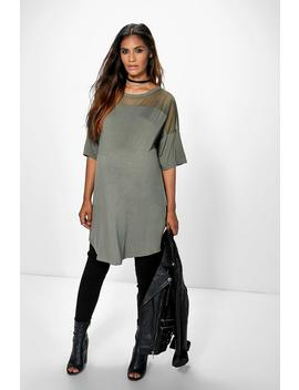 Maternity Mesh Insert T Shirt Dress by Boohoo