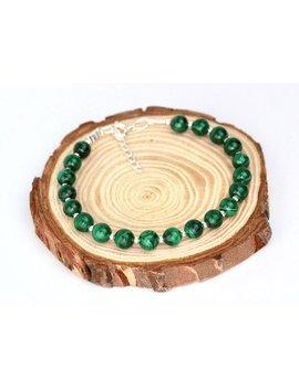 Malachite Bead Bracelet, Gemstone Bracelet, Success Bracelet, Travellers Protection Bracelet by Etsy