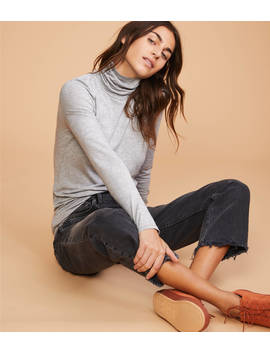 Lou &Amp; Grey Striped Softened Jersey Turtleneck by Loft