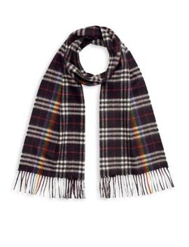 Rainbow Stripe Vintage Icon Scarf by Burberry