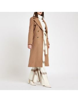 Light Brown Belted Trench Coat by River Island