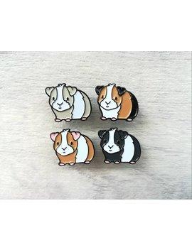 Mini Pig Enamel Pins, Black Soft Enamel Badge, Guinea Pig Enamel Brooch Pins, Tri Colour, Ginger, Grey, Black, White Cavy Badges by Etsy