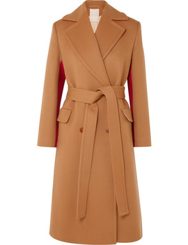 Nate Two Tone Wool And Cashmere Blend Coat by Roksanda