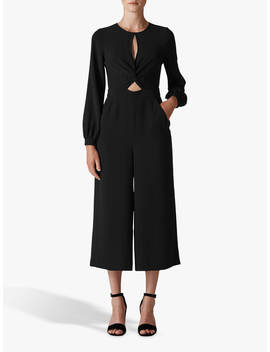 Whistles Lexi Twist Front Jumpsuit, Black by Whistles