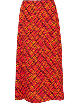Printed Crepe Maxi Skirt by Marni