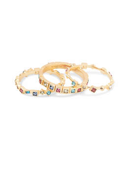 Karis Gold Stackable Ring Set In Jewel Tone Mix   7 by Kendra Scott