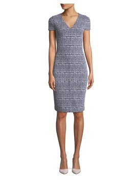 Plaid Jacquard Body Con Dress by Michael Michael Kors
