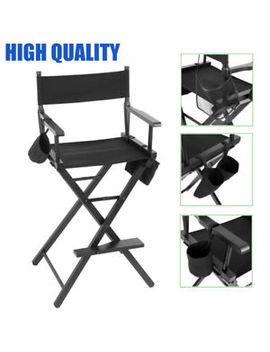 Quality 1.2m Folding Makeup Artist Directors Chair Salon Wooden High Stool Chair by Ebay Seller