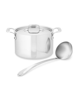All Clad D3 Tri Ply Stainless Steel Soup Pot With Ladle, 4 Qt. by Williams   Sonoma