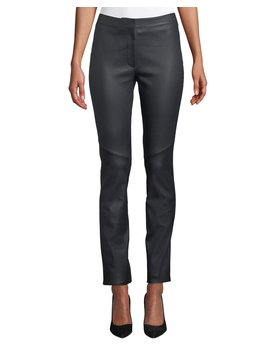 Lakera Leather Slim Pants by Escada