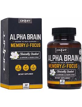Onnit Alpha Brain® | Flagship Memory, Focus, And Mental Clarity Supplement | Clinically Studied Nootropic Supporting Optimal Brainwave Function And Processing Speed (30ct) by Onnit