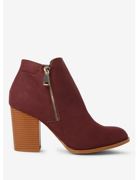 Burgundy 'Antonia' Boots by Dorothy Perkins