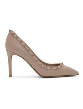 Pink Valentino Garavani Tonal Rockstud Heels by Valentino